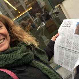 Ingeborg Vigerust, på besøg hos Cecilia Malström, EU-kommissær den ene dag - og den næste dag er hun i dagens avis