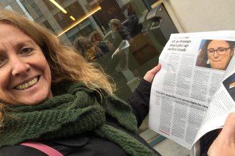 Ingeborg Vigerust, på besøg hos EU-kommissær Cecilia Malström den ene dag - og den næste dag er hun i dagens avis