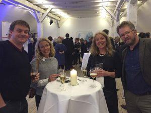 NORA - Nordatlantisk samarbejde - 20 års jubilæum. Fra venstre Hallgrimur Indriðason (I), Åsa Aspild (S), Ingeborg Vigerust (N) og Jon Thunqvist (S) Foto: Joan Rask