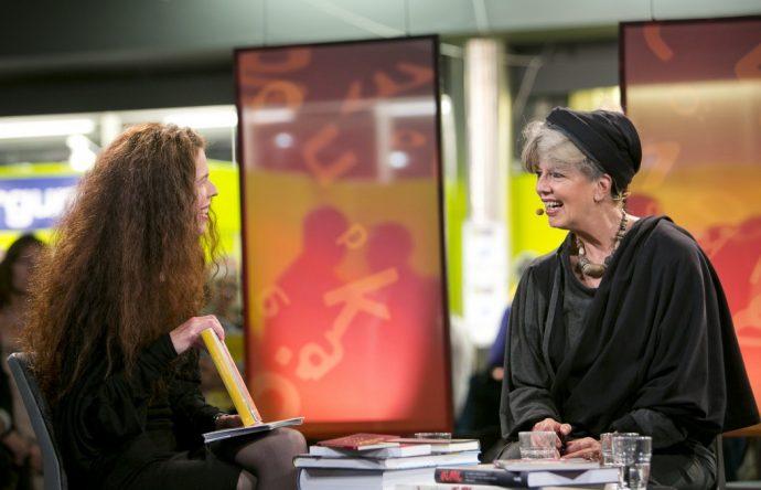 Jessica Gedin och Suzanne Brögger, Bokmässan 2012