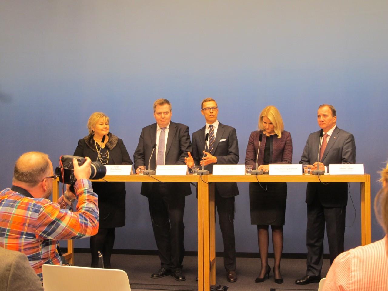 Under Nordisk Råd og Nordisk Minsterråds's session i Stockholm 2014 var alle de nordiske statsministre til stede. Deltagere på kurset