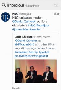 Tweet fra deltagere på Aarhus 2015