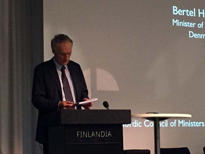 Kulturminister Bertel Haarder ved konferencen Press Freedom in a Nordic modern media landscape. Arrangeret af NJC i samarbejde med Mogens Blicher Bjerregaard på vegne af Nordisk Ministerråd