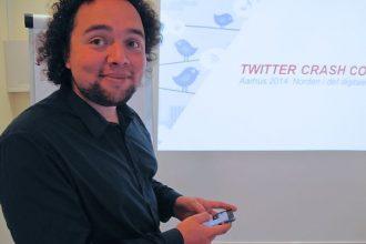 Magnus Bjerg – ekspert i SoMe – vil skærpe din evne til at researche på SoMe til brug i din journalistik. (Foto: Anders Lange, NJC)