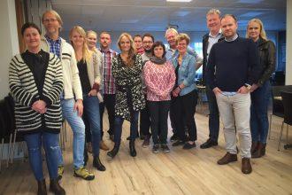 Kursister fra video/tv-kursus på Island med Torben Schou, DR som underviser
