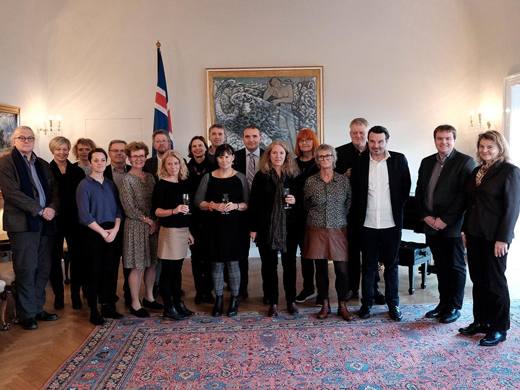 Den islandske præsident Guðni Th. Jóhannesson  tog imod gruppen Aarhus2016 i hans hjem Bessastadir, som har været bolig for islandske præsidenter i århundrede