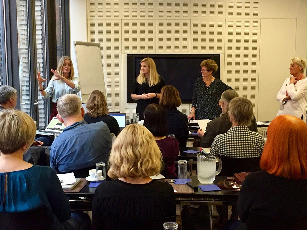 Nordisk debat; Keyspeaker Hilde Sandvik, stifer af Broen.xyz, Britt Bohlin, Nordisk Råd og Anna Abrahamsson, tidl. præsident for Ungdommens Nordisk Råd