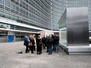 "Aarhus2016 på rundvisning i Bruxelles i det ""europæiske kvarter"", hvor mange EU-institutioner holder til. Denne rundvisning er med fokus på lobbyisme"