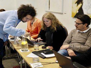 Ingeborg Vigerust Rangul, Norge og Steen Söderberg, Sverige følger intens med i Magnus Bjergs undervisning i Twitter (deltagere Aarhus 2016)