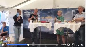 Den svære ytringsfrihed til debat på Folkemødet på Bornholm. Deltagere fra venstre: Emma Holten, Sjúrdur Skaale, Dagfinn Höybråten og Joan Rask