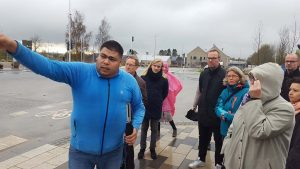 Rundvisning i Aarhus-forstaden Gellerup. Deltagere på Aarhus 2017