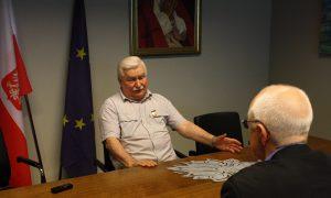 Mogens Blicher Bjerregaard, EFJ i samtale med Lech Walesa