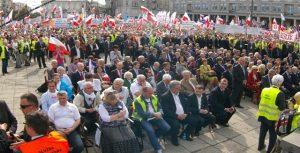 Demonstration i Warszawa, Solidarnosc Polen. Photo polennu.dk