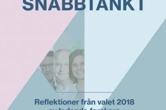 """Rapporten """"Snabbtänkt 2018 - Reflektioner från valet 2018 av ledande forskare"""""""