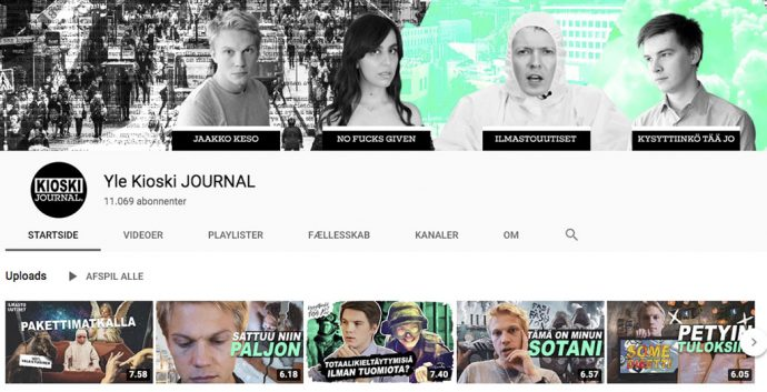 Yle Kioski JOURNAL, YouTube