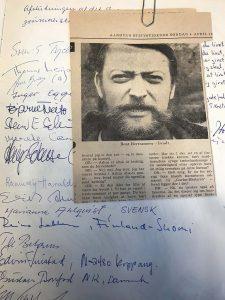 DR's tv være Bent Bertramsen var på holdet, som var med på det 12. nordiske journalistkursus den 3. marts 1969