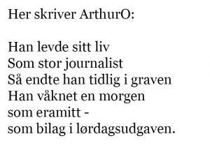 Nordisk journalistkursus. Her skriver ArthurO