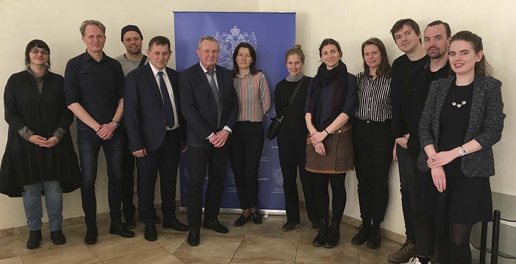 The group Next to You - Visit at the Ministry of Foreign Affairs, Kaliningrad