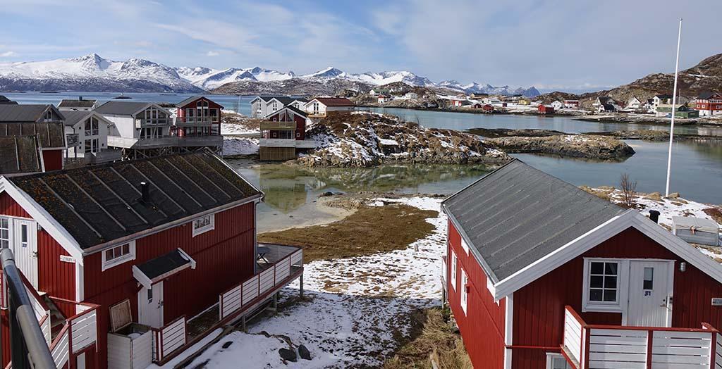 Kursisterne skal på tur og bo på dette skønne Sommarøy Arctic Hotel