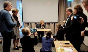Aarhus-kurset 2016 sammen med den tidligere islandske præsident Vigdís Finnbogadóttir (Island).