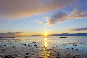 Solnedgang, Island 2020. Foto: Þorvarður Árnason