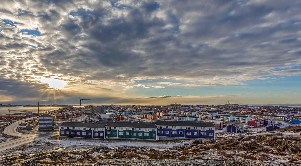 Udsigt over Nuuk-by Foto: Schutterstock
